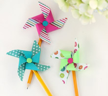 Pinwheel pencil toppers